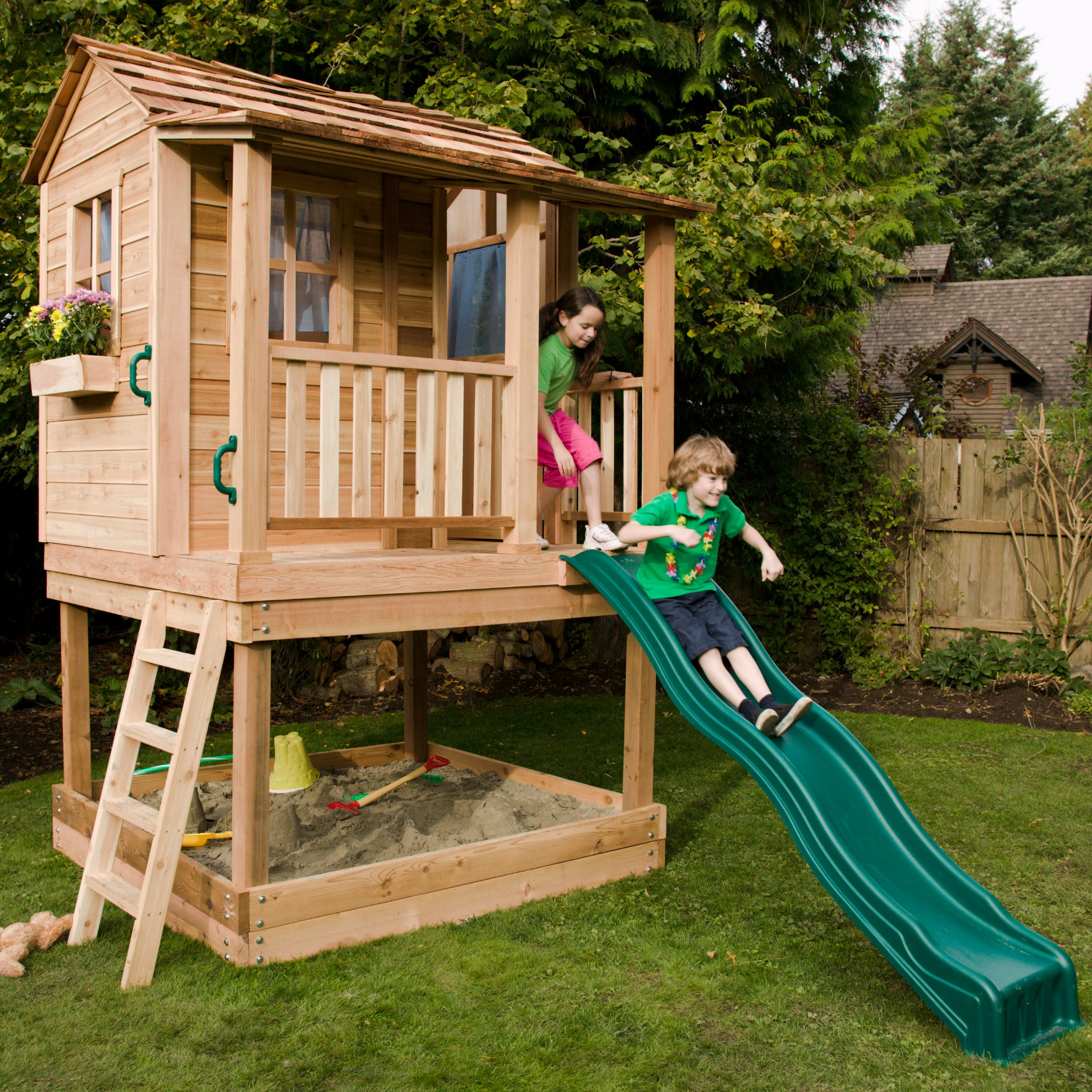 Backyard play houses 28 images 15 pimped out for Kids outdoor playhouse